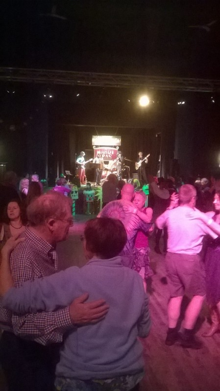 A full dance floor at the Yorkshire Cajun Festival